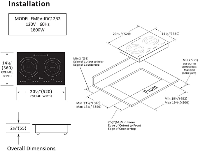 Empava Electric Stove Induction Cooktop product image 3