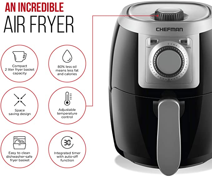 Chefman TurboFry 2 Liter Air Fryer, product image 2