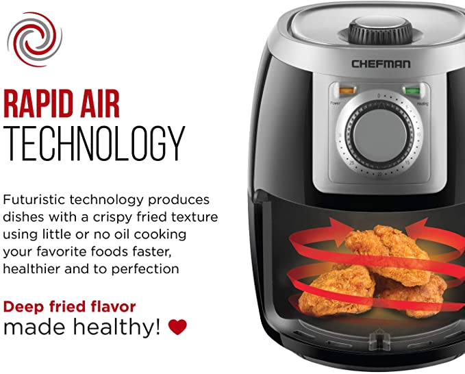 Chefman TurboFry 2 Liter Air Fryer, product image 4