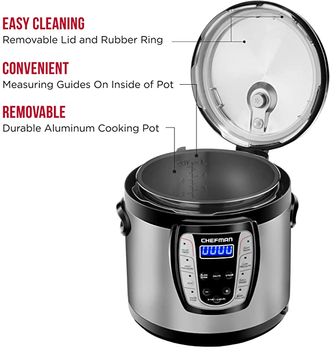 Chefman 6 Qt. Electric Multicooker, product image 4