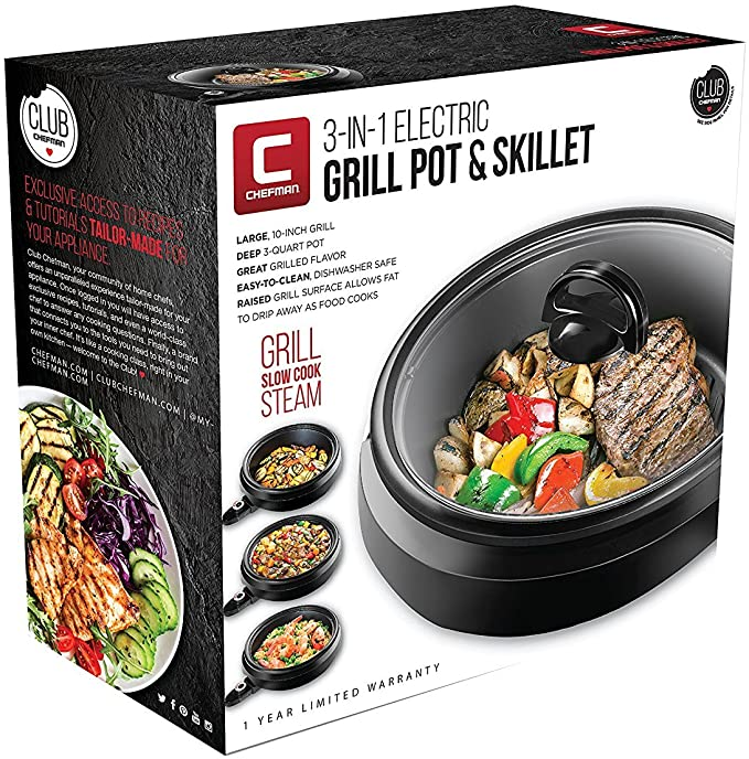 Chefman 3-IN-1 Electric Indoor Grill Pot product image 3