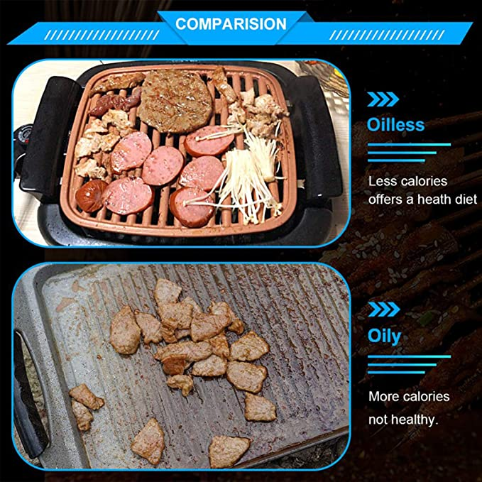 tectake Electric Indoor Smokeless Grill 01 product image 7